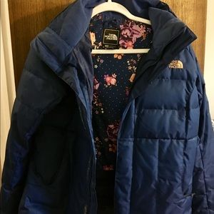 The North Face blue puffy winter coat
